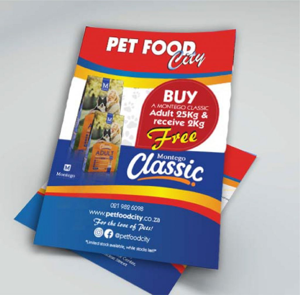 pet food city flyers mockup
