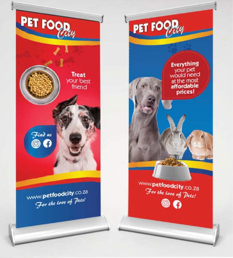pet food city banners mockup